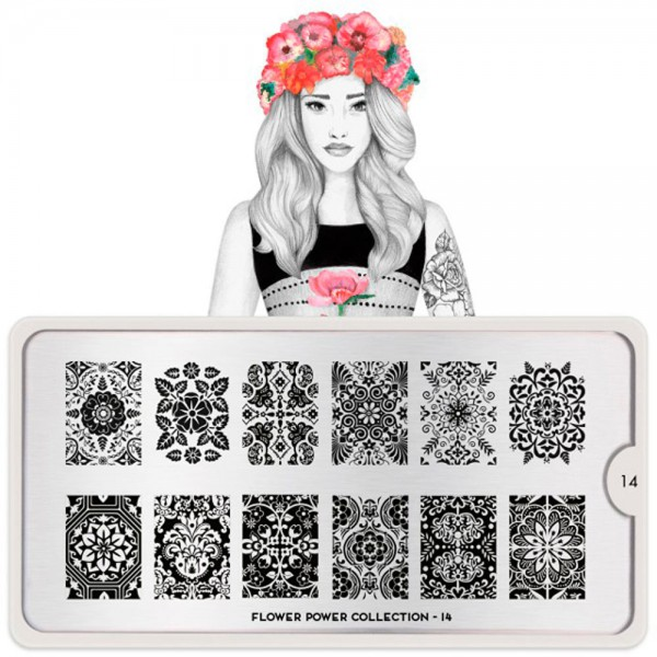 MoYou-London Schablone Flower Power Collection 14