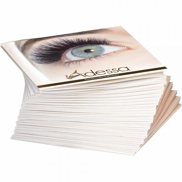 Adessa silk eyelashes Info- und Pflegebroschüre, 28 Stück