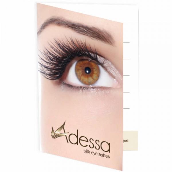 Adessa silk eyelashes Visiten-/Terminklappkarten, 50 Stück