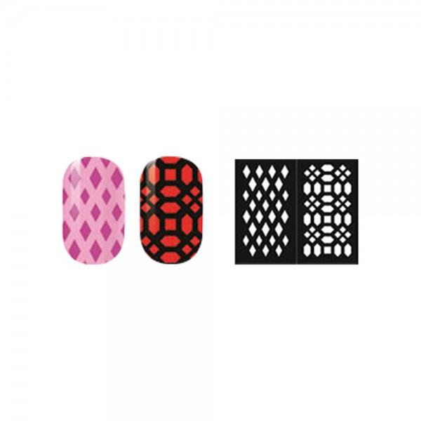 abc nailstore artist adds design stencils #102