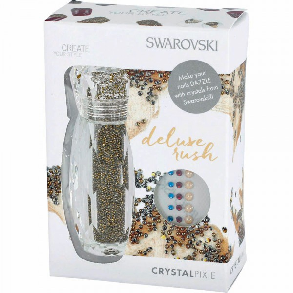 Swarovski Crystalpixie Deluxe Rush, anthrazit/gold