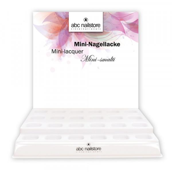 Display abc nailstore Mininagellack, leer