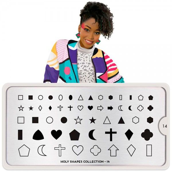MoYou-London Schablone Holy Shapes Collection 14
