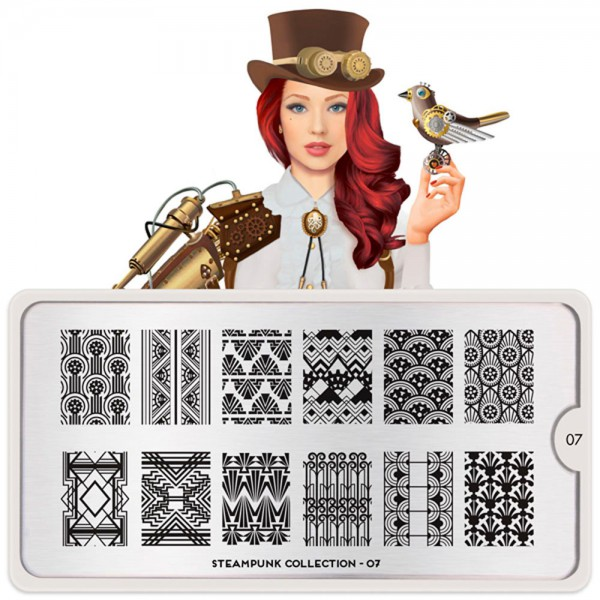 MoYou-London Schablone Steampunk Collection 07