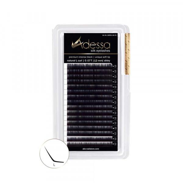 L-Curl, 0,07 Adessa Silk Lashes premium intense black