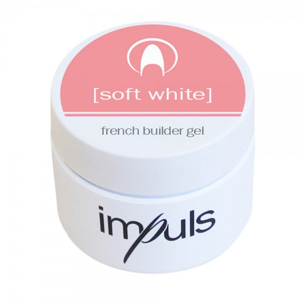 Impuls Soft White, French builder Gel, 5g