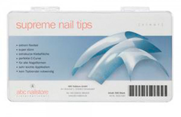 supreme nail tips clear, Tipbox mit 500 Stück