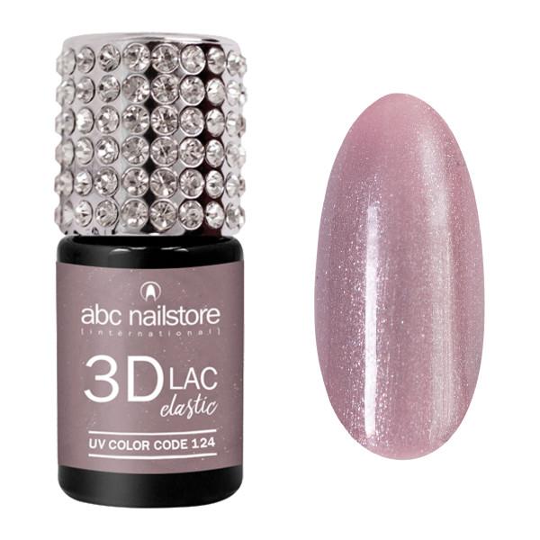 abc nailstore 3DLAC elastic purple carnation glam #124, 8 ml