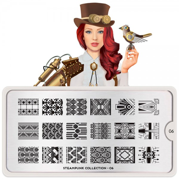 MoYou-London Schablone Steampunk Collection 06