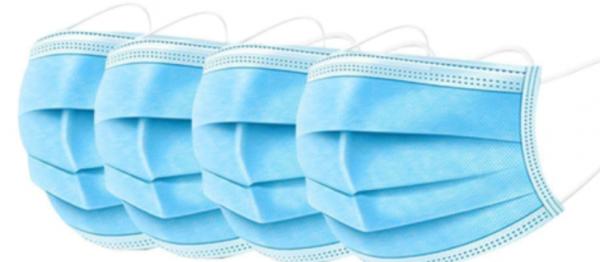 Mundschutz, Mund- und Nasenmaske, 3-lagig, 50 Stück