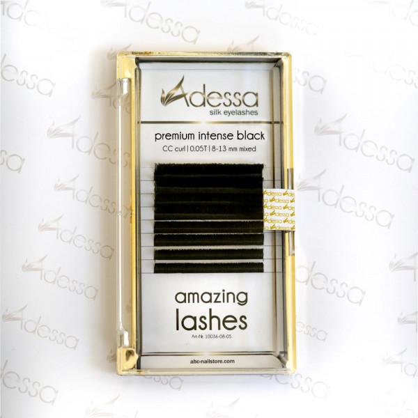 CC curl, mixed 0,05/8-13 mm Adessa amazing lashes black