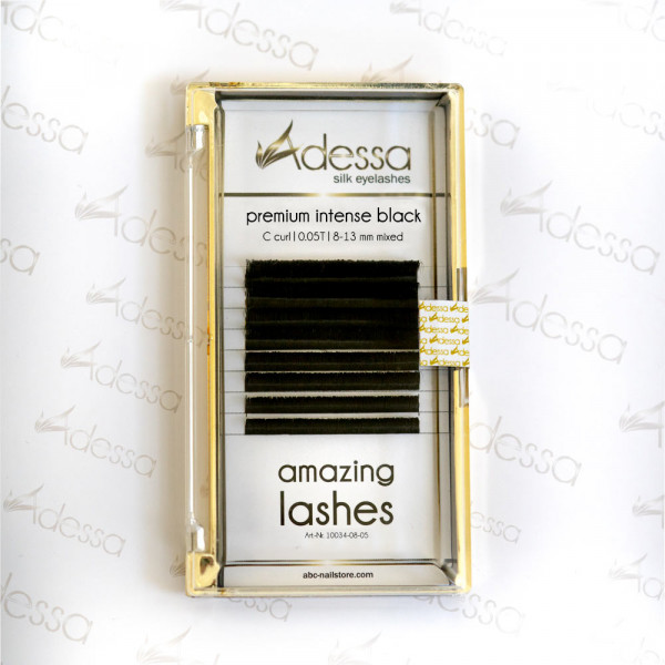 C curl, mixed 0,05/8-13 mm Adessa amazing lashes black