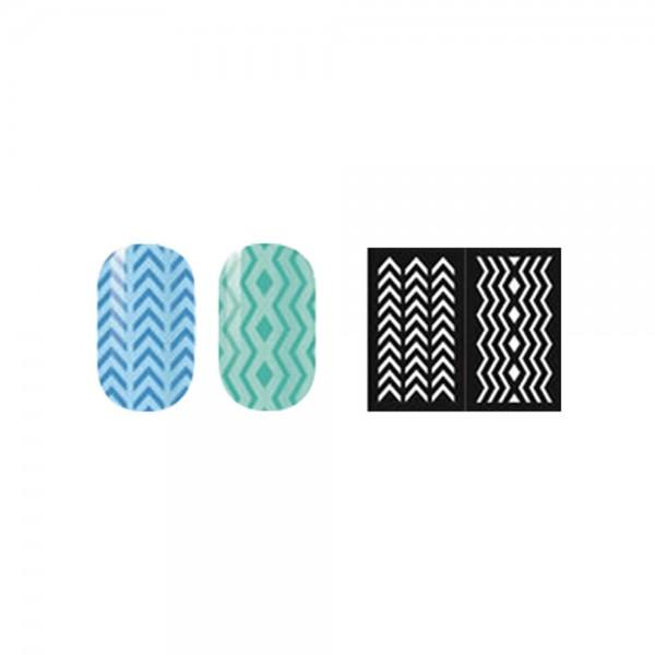 abc nailstore artist adds design stencils #106