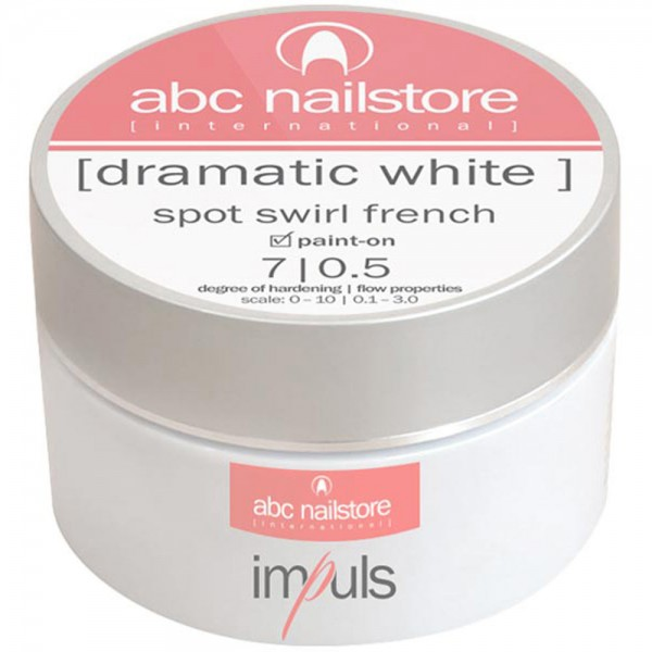 Impuls Dramatic White, French Gel, 100g - neue Rezeptur -