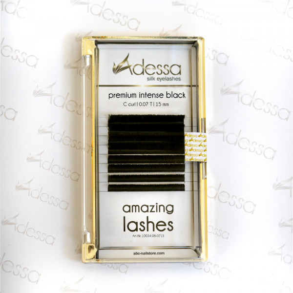 C curl, 0,07 Adessa amazing lashes black