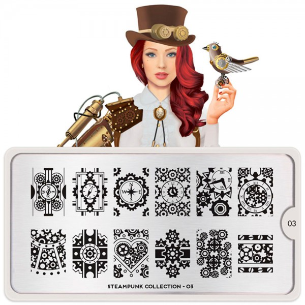 MoYou-London Schablone Steampunk Collection 03