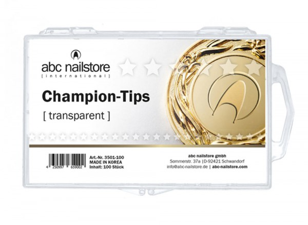 abc nailstore nail tips champion, clear Tipbox mit 100 Stück