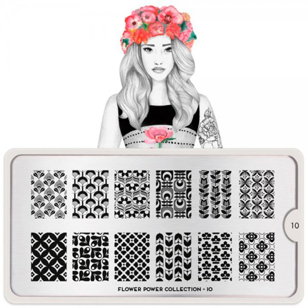 MoYou-London Schablone Flower Power Collection 10