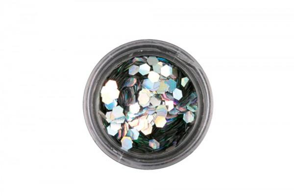 chunky hexagonal silver, 2g