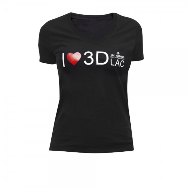 T-Shirt Damen schwarz 3DLAC, Größe L