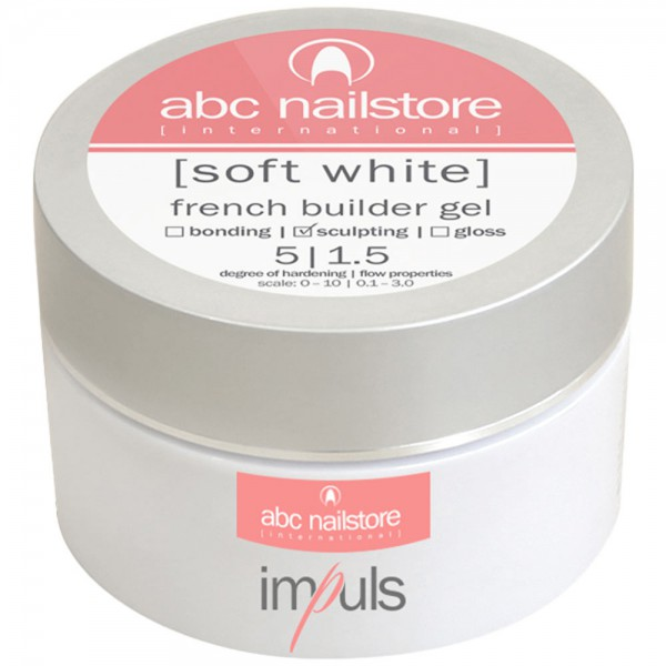 Impuls Soft White, French builder Gel, 60 g