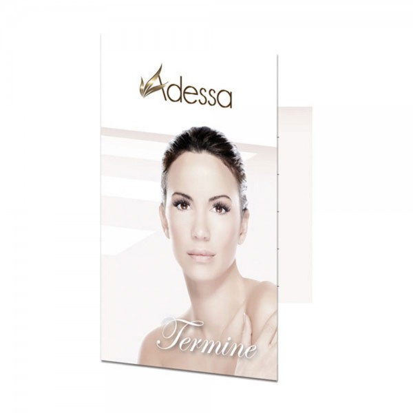 Visiten- & Terminklappkarten Motiv Adessa Cosmetics, 50 Stück