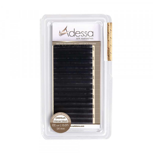 CC curl, 0,15/8 mm Adessa Silk Lashes premium intense black