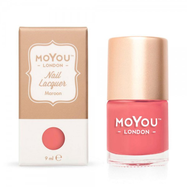 MoYou-London Stamping Nail Lacquer - Maroon , 9 ml