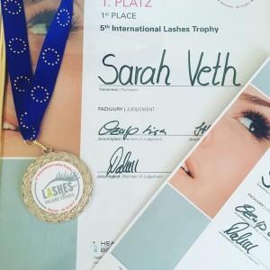 Sarah Veth Lashes Trophy