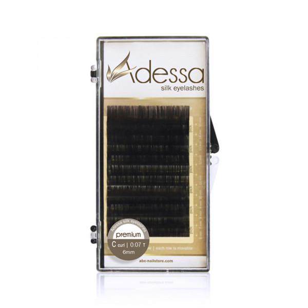 Adessa Silk Lashes Tray, C curl, 0,07