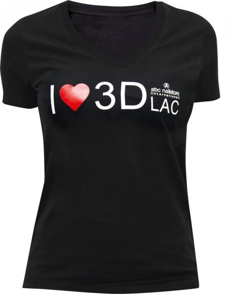 T-Shirt Damen schwarz 3DLAC, Größe S