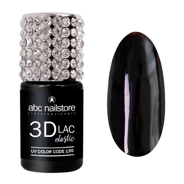 abc nailstore 3DLAC elastic, jet black #130, 8 ml