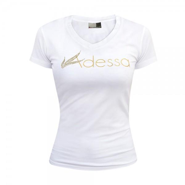 Adessa Damen T-Shirt weiß, Kurzarm, Gr. XL
