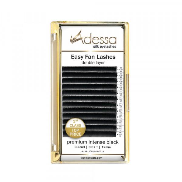CC curl, 0,07/12 mm Adessa Easy Fan Lashes premium intense black