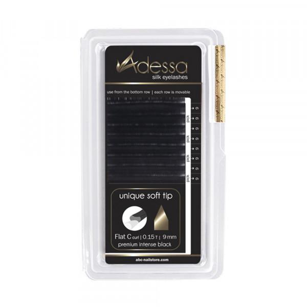 C-Curl, 0,15/9 mm Adessa Silk Lashes premium flat