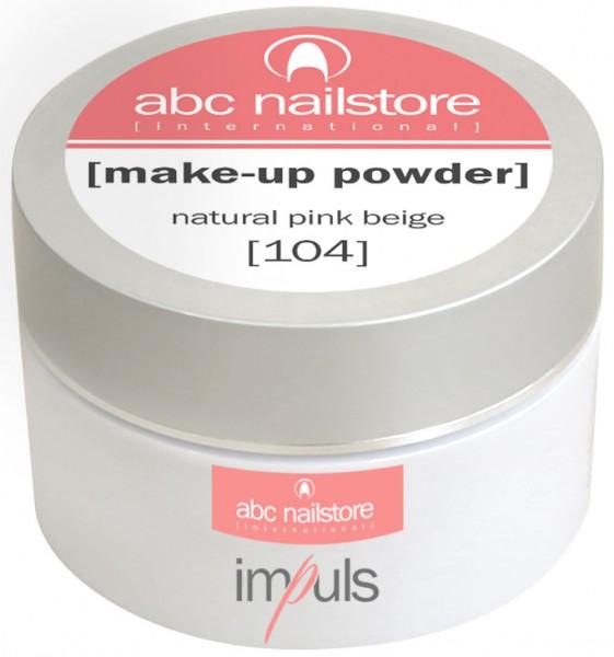 impuls make-up powder natural pink beige #104, 35 g