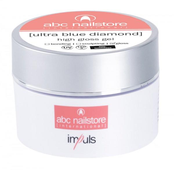 abc nailstore ultra blue diamond, high gloss gel, 15 g