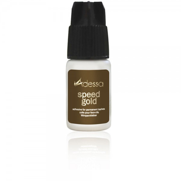 Adessa speed gold Wimpernkleber, 3 ml plus Ersatztülle + Kappe f. Speed Gold