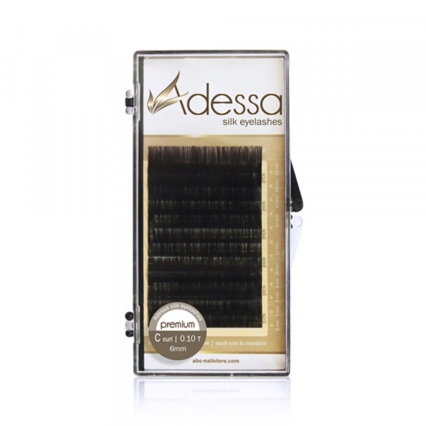 Adessa Silk Lashes Tray, C curl, 0,10