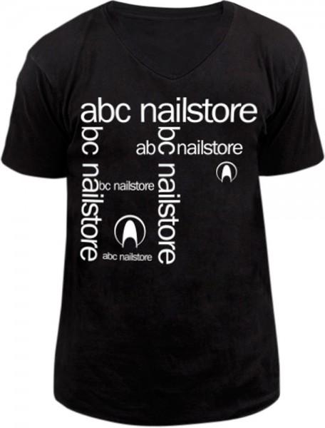T-Shirt Unisex schwarz mit Flexdruck, Gr.XL