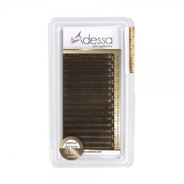 Adessa silk eyebrow extensions, dark brown mixed tray ,0,10
