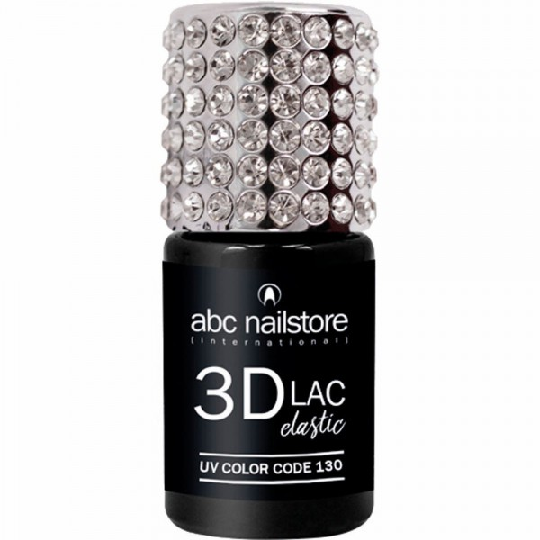 abc nailstore 3DLAC elastic, jet black #130, 8 ml