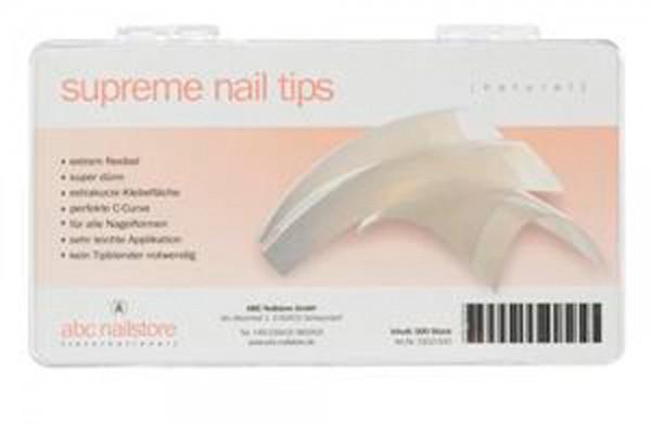 supreme nail tips natur, Tipbox mit 500 Stück