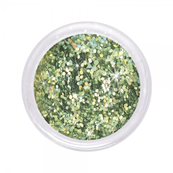 dazzling glitter 0,6 mm, frog green #112, 6 g