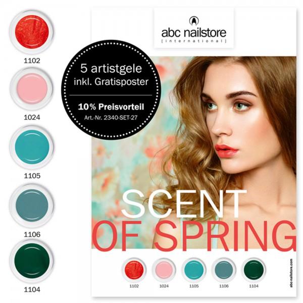 artistgel Set scent of spring, 5 x 5 g inkl. Gratisposter ***10 % Preisvorteil***