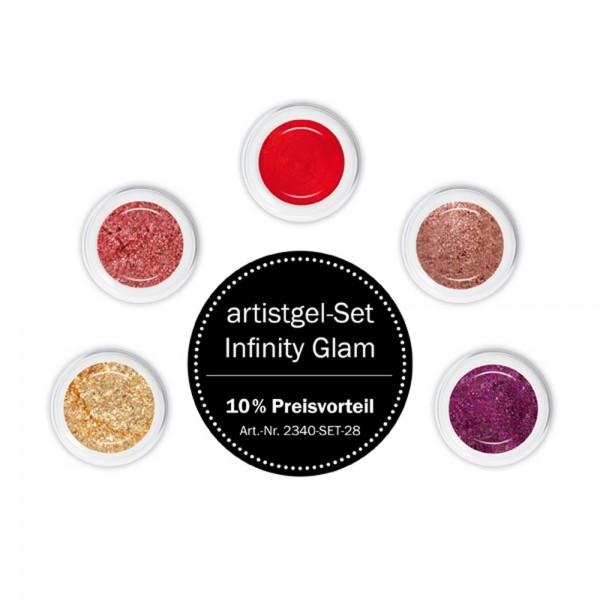 artistgel Set infinity glam, 5x5 g ***10 % Preisvorteil***