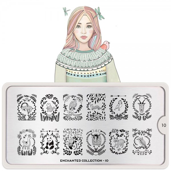 MoYou-London Schablone Enchanted Collection 10