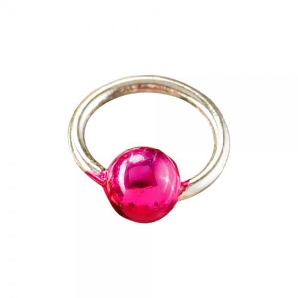 Piercingring silber/pink